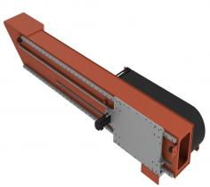 Transverse slide for overhead robot mounting