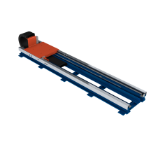 Floor-mounted linear track