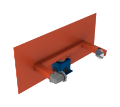 Horizontal rotary positioner with vertical rotation and counter bearing