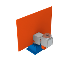 Horizontal rotary positioner with turning/swivelling movement