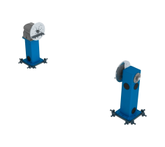 Workpiece Positioner with vertical rotation with counter bearing