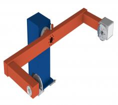 Workpiece Positioner with turning and swivelling movement and counter bearing