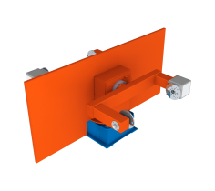 Horizontal rotary positioner with turning/swivelling movement and counter bearin