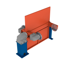 Vertical rotary positioner with vertical rotation and counter bearing