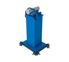 Counter bearing with roller support