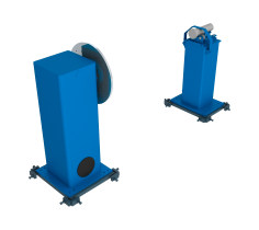 Workpiece Positioner with vertical rotation with roller support